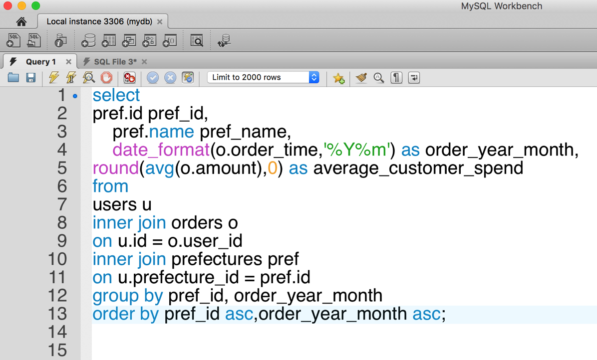 05 SQL整形前