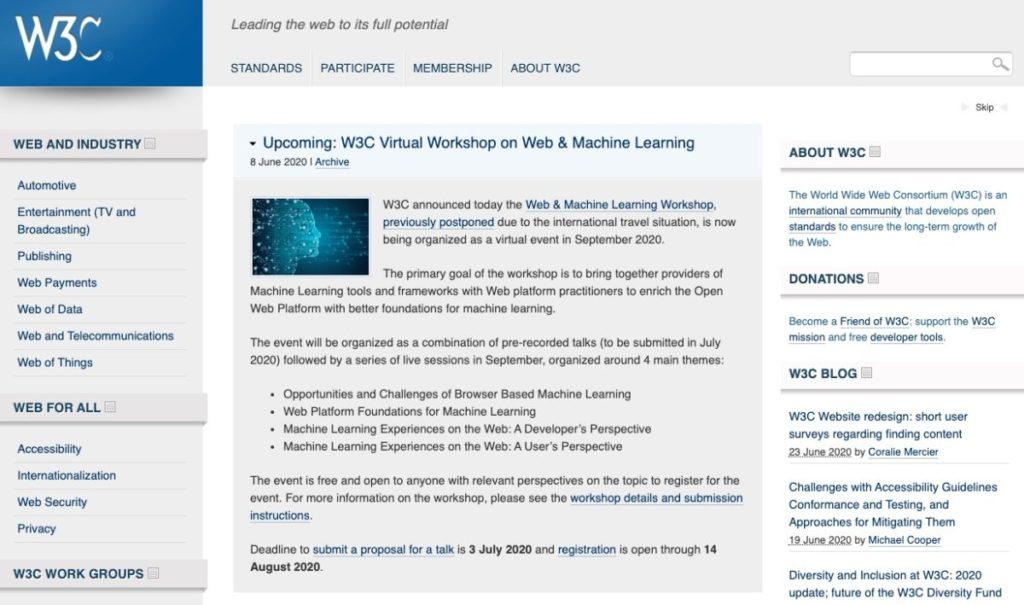 W3Cトップ